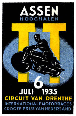 Painting - 1935 International Motorcycle Race by Historic Image