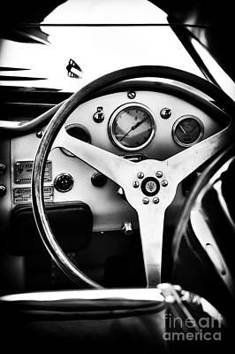 30s Photograph - 1935 Maserati 4cs Interior Monochrome by Tim Gainey