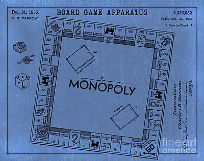 Charles Digital Art - 1935 Monopoly Patent Art 2 by Nishanth Gopinathan