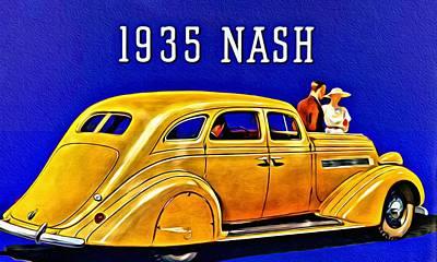 Painting - 1935 Nash Lafayette by Florian Rodarte