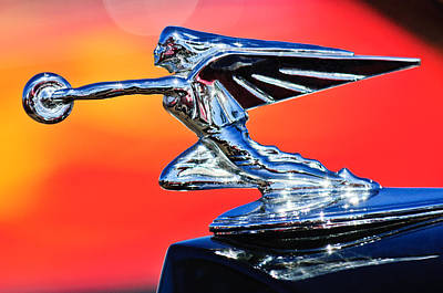 1935 Packard Hood Ornament -0295c Print by Jill Reger