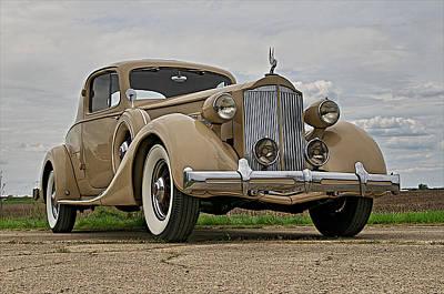 1935 Packard Super 8 Art Print by Jerry Druhan
