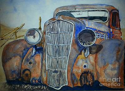 Painting - 1935 Plymouth Coupe by DJ Laughlin