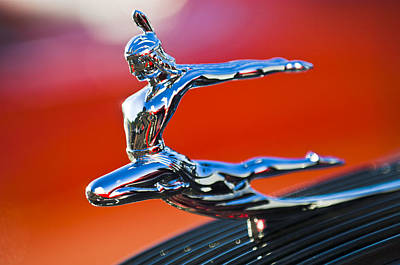 1935 Pontiac Sedan Hood Ornament 2 Art Print by Jill Reger