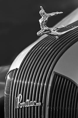 1935 Pontiac Sedan Hood Ornament 3 Art Print by Jill Reger