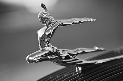 Hoodies Photograph - 1935 Pontiac Sedan Hood Ornament 4 by Jill Reger
