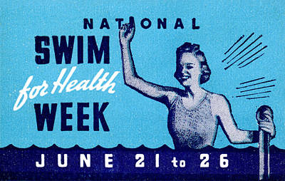 Painting - 1935 Swim For Health Poster by Historic Image