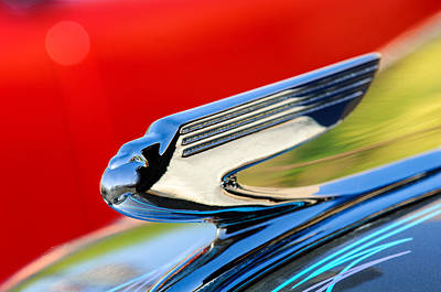 Hood Ornament Photograph - 1936 Chevrolet 2dr Sedan Hood Ornament by Jill Reger