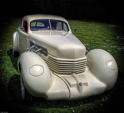 Print featuring the photograph 1936 Cord Automobile by Thom Zehrfeld