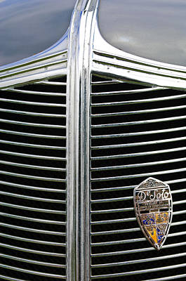 Photograph - 1936 Desoto Airstream Grille Emblem by Jill Reger
