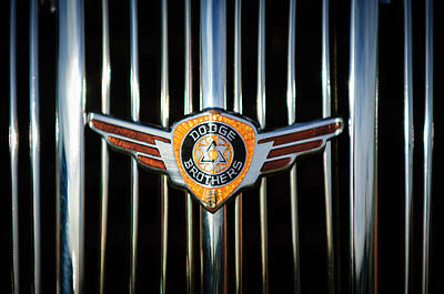 Photograph - 1936 Dodge Grille Emblem -0864c by Jill Reger