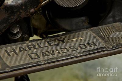 1936 El Knucklehead Harley Davidson Vintage Parts  Art Print