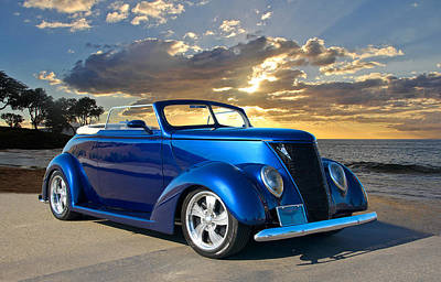 Street Rod Photograph - 1936 Ford Cabriolet by Dave Koontz