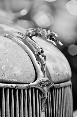 1936 Ford Photograph - 1936 Ford Cabriolet Hood Ornament - Emblem by Jill Reger