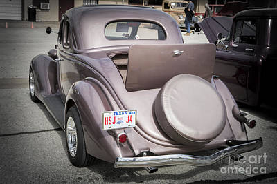 Photograph - 1936 Ford Roadster Classic Car Or Automobile Back End In Color  3119.02 by M K Miller