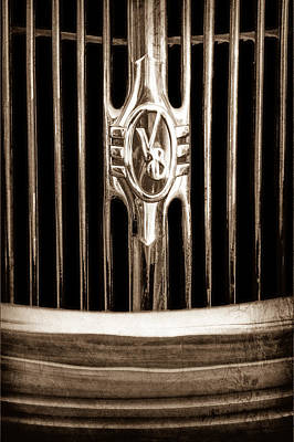 1936 Ford Photograph - 1936 Ford Phaeton Grille Emblem by Jill Reger