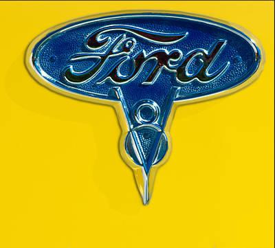 1936 Ford Pickup Truck Emblem Print by Jill Reger