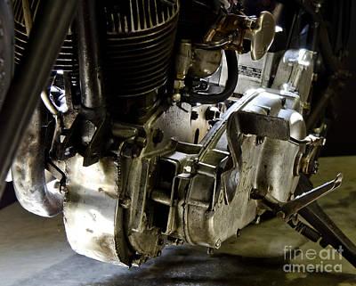 1936 Indian Flat Tracker Motorcycle Art Print by Wilma  Birdwell