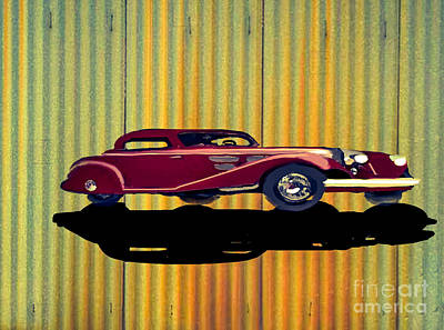 Painting - 1936 Mercedes Benz Classic Car by Belinda Threeths