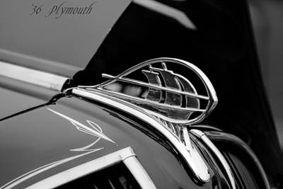 Photograph - 1936 Plymouth Sailing Ship Hood Ornament by Jeanne May