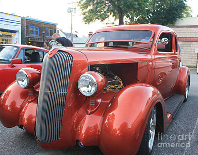 1936 Plymouth Sedan Photograph - 1936 Plymouth Two Door Sedan Front And Side View by John Telfer