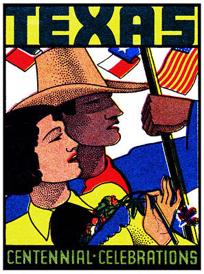 Lone Star State Painting - 1936 Texas Centennial Poster N.2 by Historic Image
