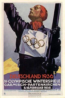 1936 Winter Olympics Art Print by Unknown