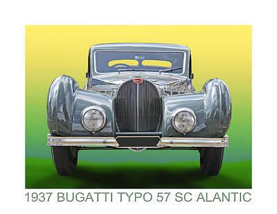 Photograph - 1937 Bugatti 57 S C Atalante by Jack Pumphrey