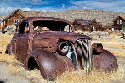 Photograph - 1937 Chevrolet Coupe At Bodie by Kathleen Bishop