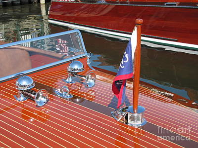 Chris Craft Custom Photograph - 1937 Chris Craft Runabout by Neil Zimmerman