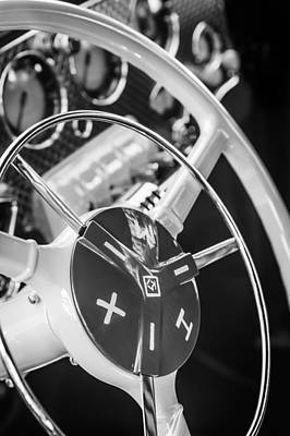 Photograph - 1937 Cord 812 Phaeton Grille Steering Wheel by Jill Reger