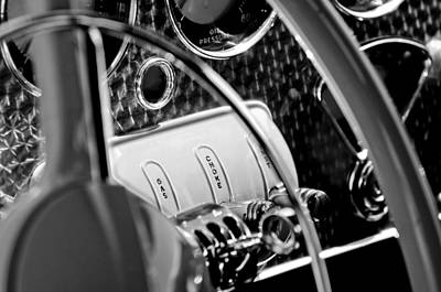 Photograph - 1937 Cord 812 Phaeton Steering Wheel by Jill Reger