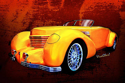 1937 Cord Coffin Nose Speedster Concours On Toast Art Print