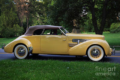 1937 Cord Convertible Art Print by Dennis Hedberg