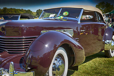 Photograph - 1937 Cord Phaeton by Jack R Perry