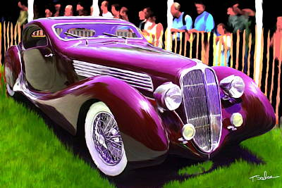 1937 Delahaye 135 Ms By Figoni And Falaschi Original by Tom Sachse
