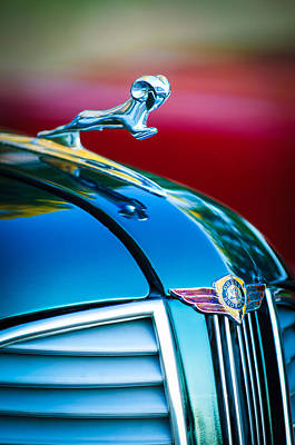 1937 Dodge Hood Ornament - Emblem Art Print by Jill Reger