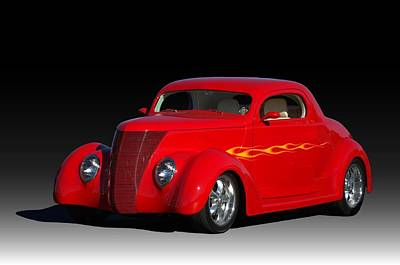 Photograph - 1937 Ford Coupe Hot Rod by Tim McCullough