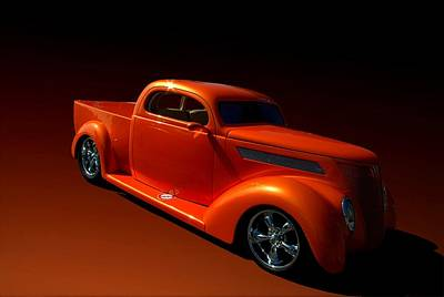Photograph - 1937 Ford Custom Pickup Truck by Tim McCullough