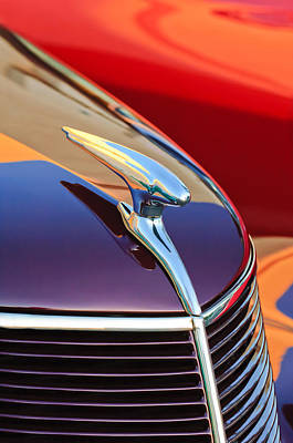 Car Photograph - 1937 Ford Hood Ornament 2 by Jill Reger