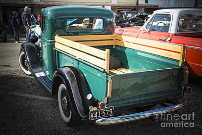 Photograph - 1937 Ford Pickup Truck Bed Classic Car  Photograph In Color 3312 by M K Miller