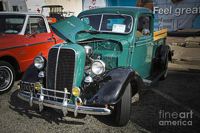 Photograph - 1937 Ford Pickup Truck Classic Car Photograph In Color  3308.02 by M K Miller