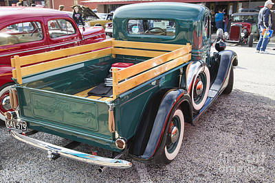 Photograph - 1937 Ford Pickup Truck Spare Tire Classic Car Photograph In Colo by M K Miller