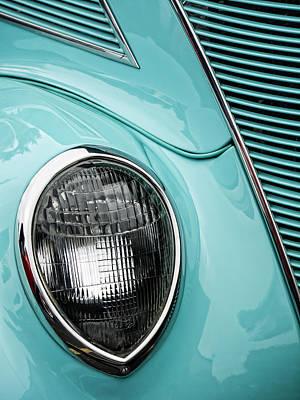 Headlamp Photograph - 1937 Ford Sedan Slantback by Carol Leigh