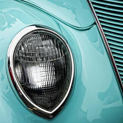 Headlamp Photograph - 1937 Ford Sedan Slantback Square by Carol Leigh
