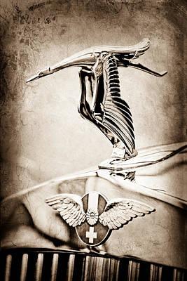Photograph - 1937 Hispano-suiza Hood Ornament - Emblem -0264s by Jill Reger