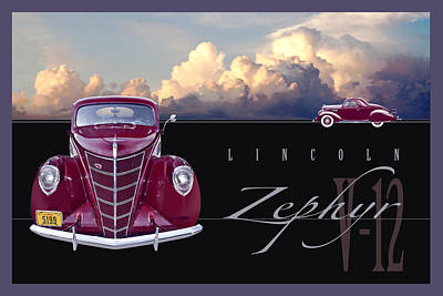 Photograph - 1937 Lincoln Zephyr by Ed Dooley