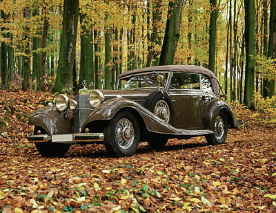 Historic Car Photograph - 1937 Mercedes Benz 540k Supercharged by Panoramic Images