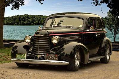 Photograph - 1937 Oldsmobile Custom Sedan Hot Rod by TeeMack
