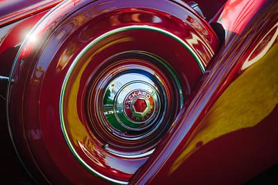 1937 Packard 1508 Dietrich Convertible Sedan Spare Tire Art Print